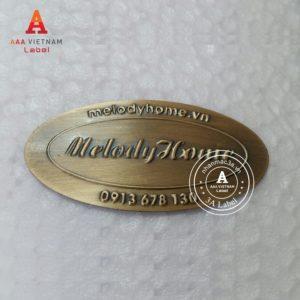 Mẫu tem đồng dập nổi giả cổ 16