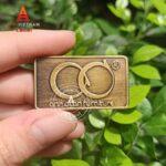 Mẫu tem đồng dập nổi giả cổ 10