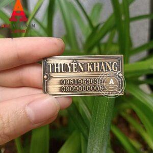 Mẫu tem đồng dập nổi giả cổ 03