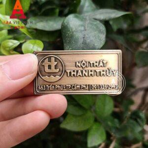 Mẫu tem đồng dập nổi giả cổ 11