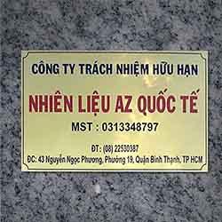 Mẫu biển công ty chất liệu inox vàng 09